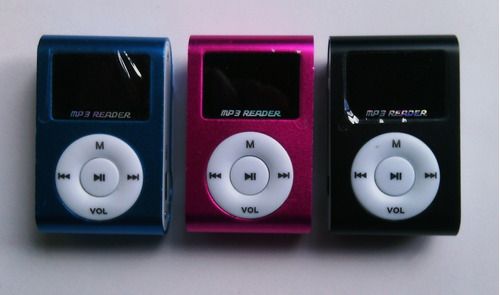 reproductor clip mp3 lcd + memoria  micro sd 4 gb