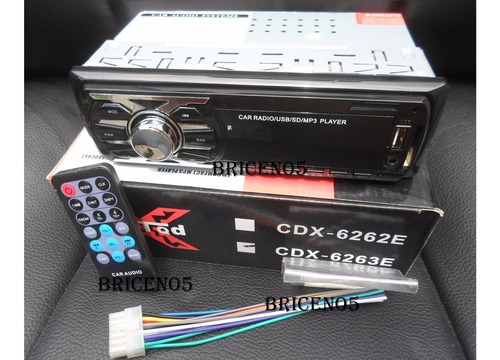 reproductor de carro mp3 usb sd lcd aux control remoto 6262