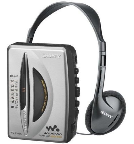 reproductor de casete estéreo sony wm fx195 walkman am fm...