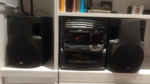 reproductor de cd, cassette  y radio jvc