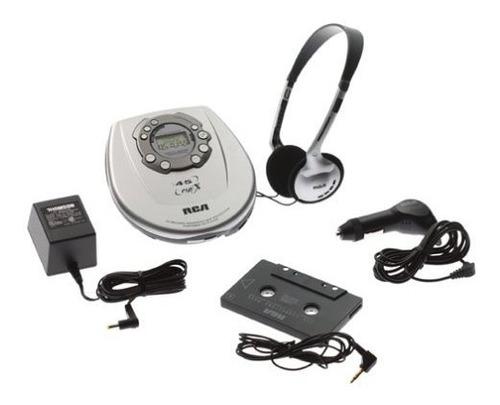 reproductor de cd portatil de diseño delgado rca rp2365 con