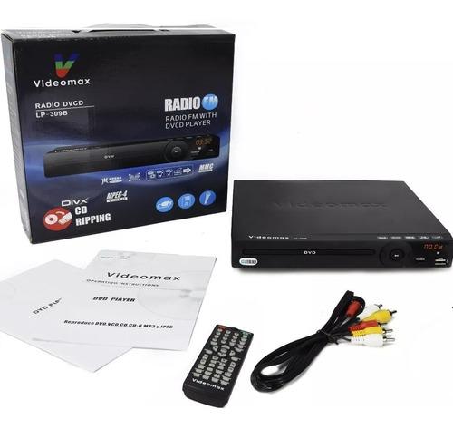 reproductor de dvd videomax lector usb/sd/ entrada mic/radio