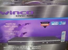 reproductor de dvd winco hdmi-usb radio fm- w 615