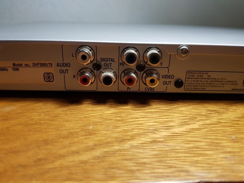 reproductor de dvd/cd philips dvp 3005