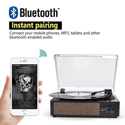 reproductor de grabacion portatil bluetooth lp unidad de dis
