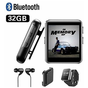 Reproductor De Mp3 Con Clip De 32 Gb Con Bluetooth, Reproduc