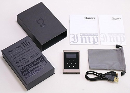 reproductor de mp3 de control de botón táctil de 16gb agptek