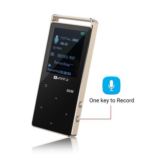 reproductor de música bluetooth mp3 de 16gb con 50 horas de