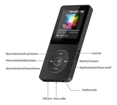 reproductor de música de mp3 -agptek a02 8gb