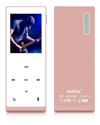 reproductor de musica mp3 con bluetooth mymahdi 8 gb ororosa