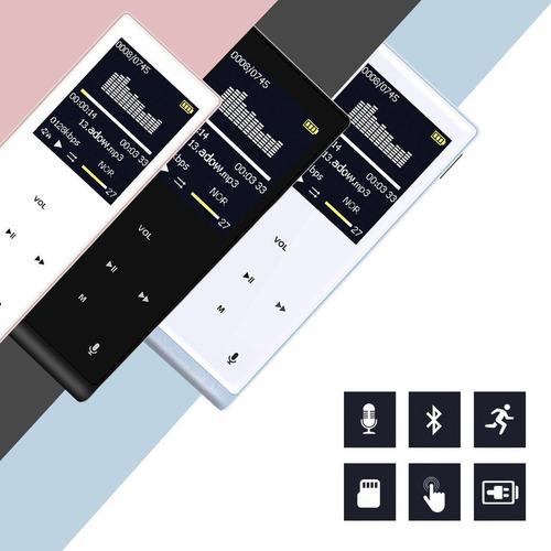 reproductor de musica mp3 con bluetooth mymahdi 8 gb ororosa