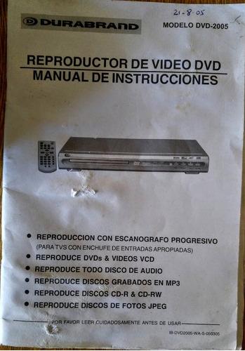 reproductor dvd durabrand c.remoto ibdvd2005-was050305  caba
