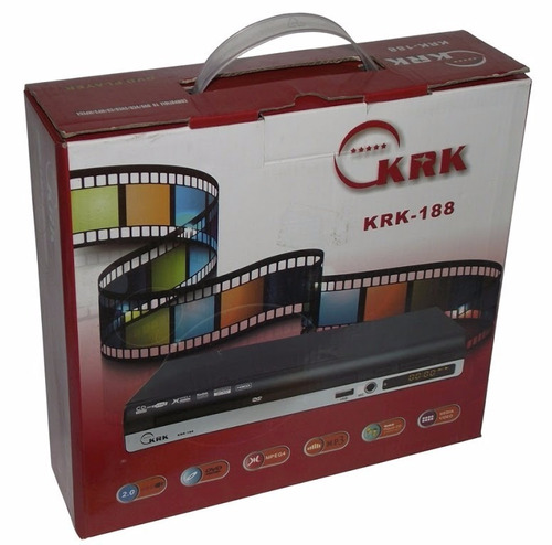 reproductor dvd krk-188 usb control remoto mp3/mpeg4
