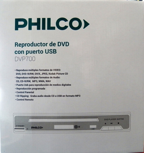 reproductor dvd philco usb mp3 divx copia discos a usb