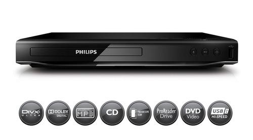 reproductor dvd philips dvp2850x/77 divx usb gtia oficial