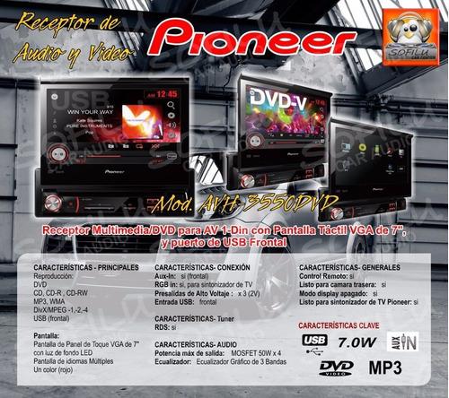 reproductor dvd pioneer avh 3550 mp3 pendrive cd original