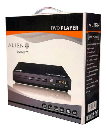 reproductor dvd player alien 077a + control mmk pch