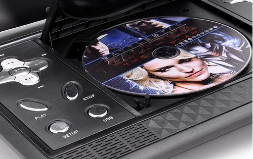 reproductor dvd portatil multimedia lcd 10 plg. tv, mp3, usb