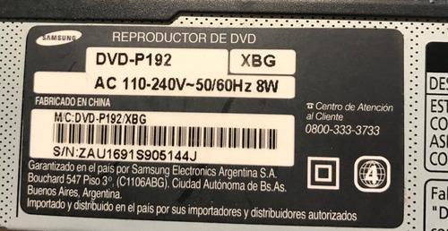 reproductor dvd samsung p192 - la plata