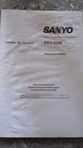 reproductor dvd sanyo
