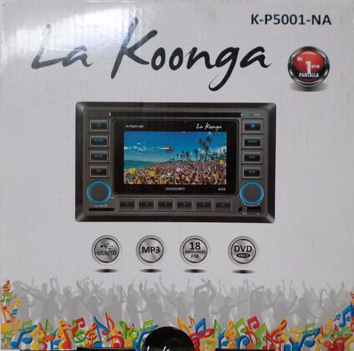 reproductor koonga 2 din dvd con pantalla y usb lector memor