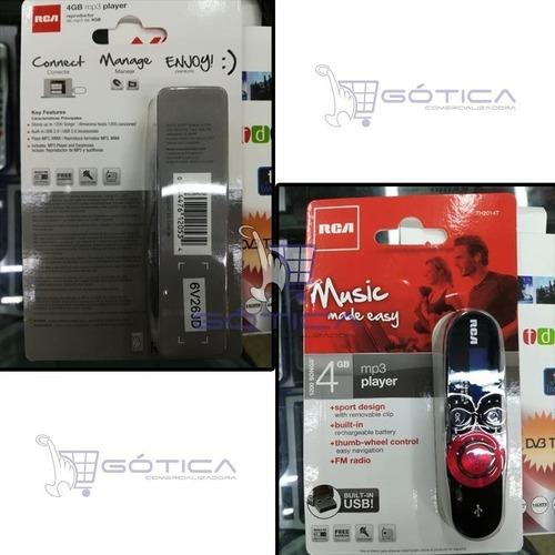 reproductor mp3 4gb con usb y clip extraible rca-th2014-t