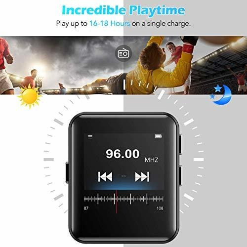 reproductor mp3 bluetooth con correas de reloj, 16gb