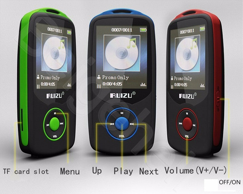 reproductor mp3 bluetooth ruizu 4gb expandible + audífonos