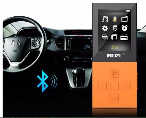 reproductor mp3 bluetooth ruizu 8gb expandible + audífonos