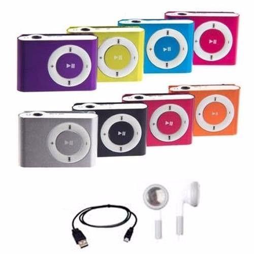 reproductor mp3 clip shuffle entrada micro sd usb audifonos