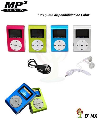 reproductor mp3 con pantalla + audífonos + fm