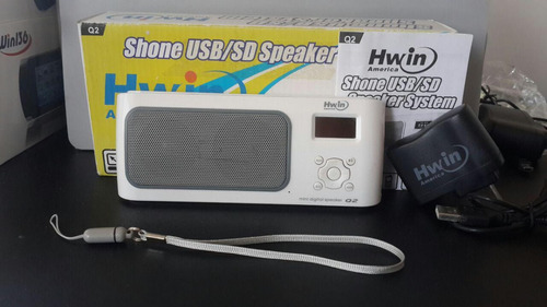 reproductor mp3 corneta portátil hwin radio entrada usb/sd