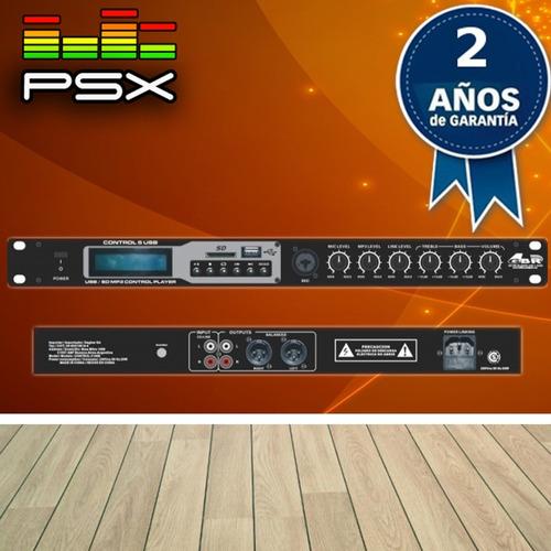 reproductor mp3 gbr control 5 usb sd radio fm rackeable gtía