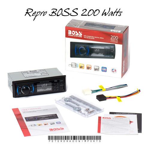 reproductor mp3 para carros marca boss 200w + usb + aux + eq