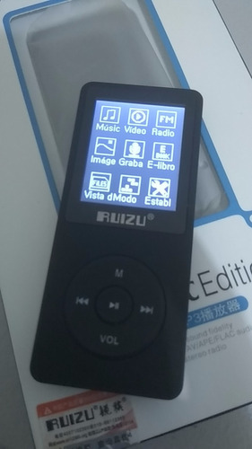 reproductor mp3 ruizu x02 8 gb con radio fm