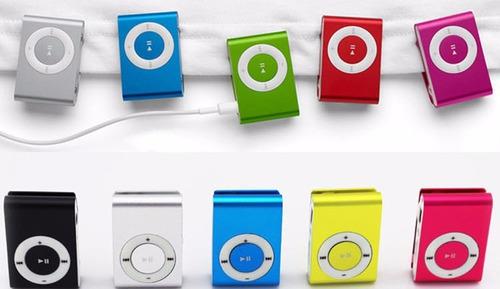 reproductor mp3 shuffle clip con audifonos y cable
