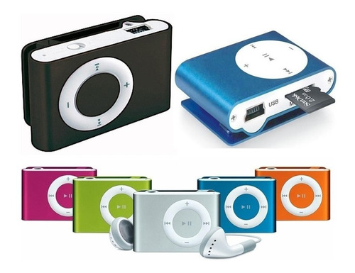 reproductor mp3 shuffle clip mini audifonos para microsd