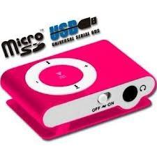 reproductor mp3 shuffle micro sd 4gb usb varios colores