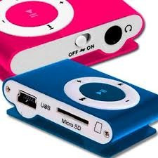reproductor mp3 shuffle micro sd + audifonos y cable usb