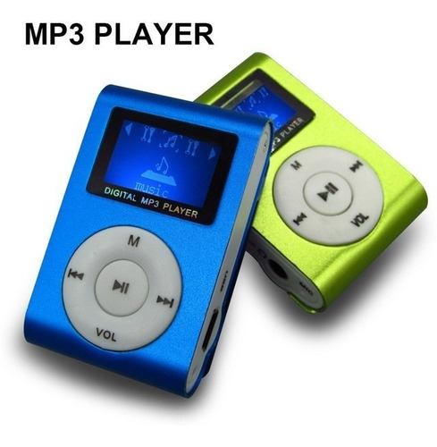 reproductor mp3 shuffle micro sd pantalla bateria colores