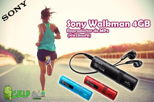 reproductor mp3 sony nwz-b183f portatil 4 gb + radio fm