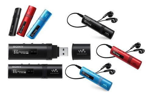 reproductor mp3 sony usb nwz b183f 4gb radio fm color azul
