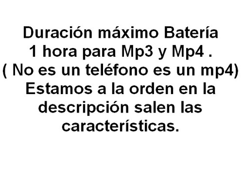 reproductor mp4 4gb