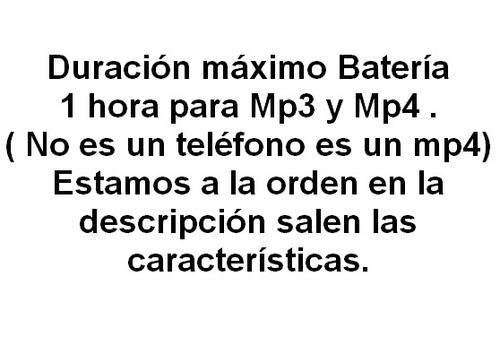 reproductor mp4 camara radio fm + 4gb memoria