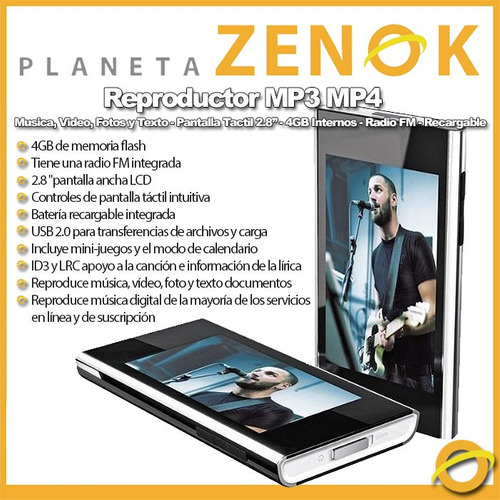 reproductor mp4 coby mp826 4gb radio fm mp3 recargable touch