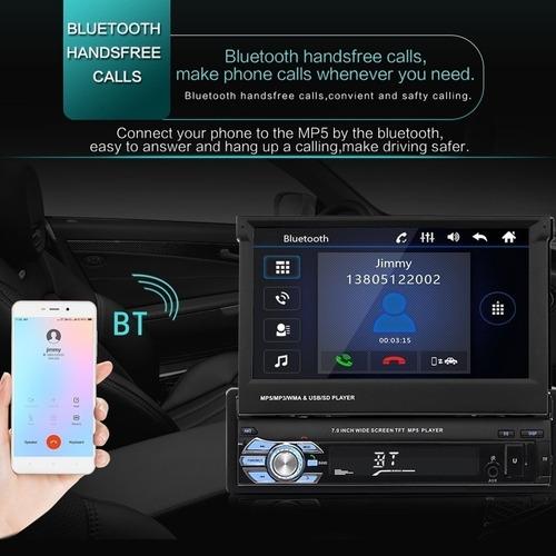 reproductor mp5 con pantalla retráctil de 7 in para auto