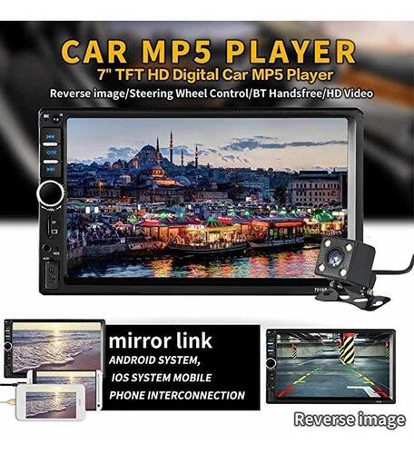 reproductor multimedia para auto 7018b, pantalla de 7 in