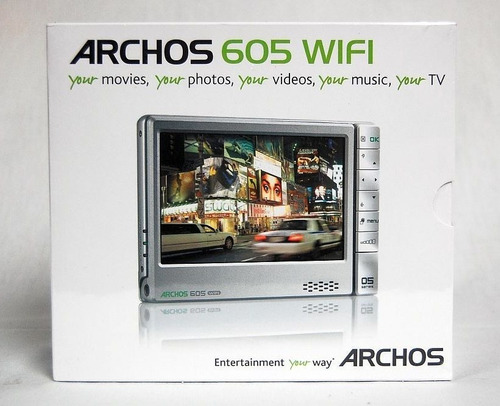 reproductor multimedia portátil archos 605wifi 160gb mp4 mp3