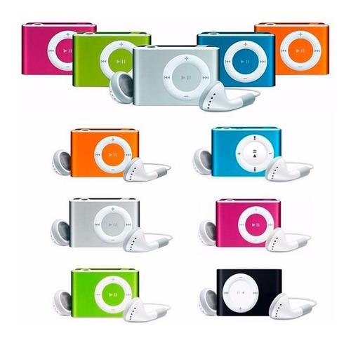 reproductor nano  clip mp3 ranura micro sd con audifonos