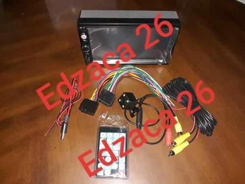 reproductor pantalla para carro bluetooth camara retroceso